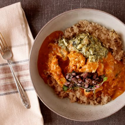 Butter Chicken Curry and Saag