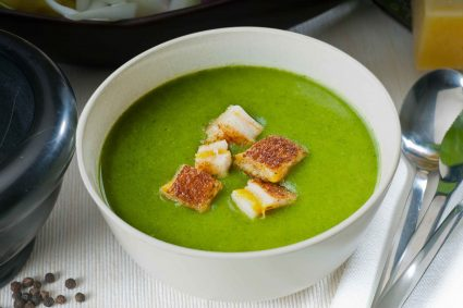 Potato and Spinach Soup with Jalapeño