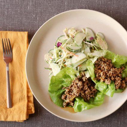 Ground Turkey Larb Lettuce Wraps