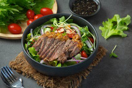 Steak Salad Shallot Vinaigrette