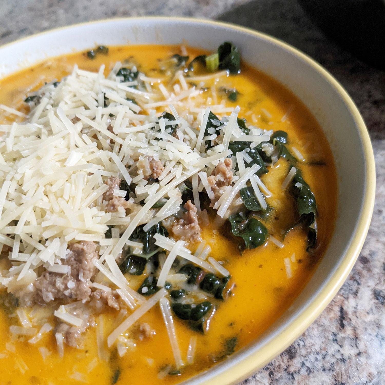 Chorizo, Kale, and Potato Soup