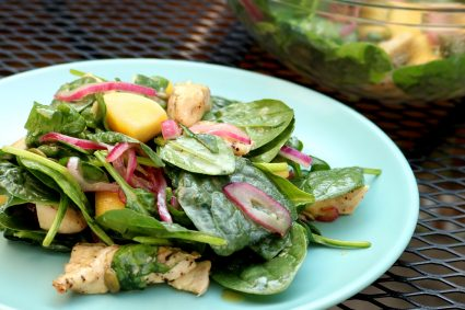 Grilled Chicken and Spinach Salad with Honey Mustard